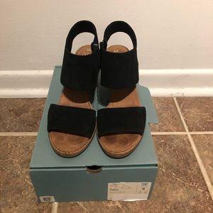 TOMS black heels